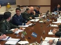 Visita teve o objetivo de discutir agenda distribuída em níveis decisórios na estrutura organizacional de defesa das duas nações