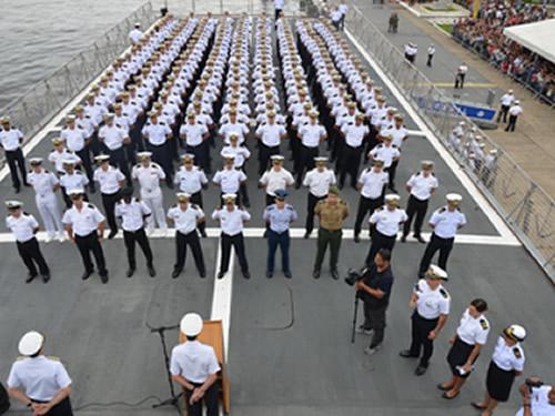 """Navio-Escola """"Brasil"""" inicia XXIX Viagem de Instrução de Guardas-Marinha"""