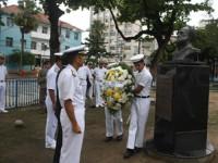 Cerimônia de aposição floral no Busto do Almirante Tamandaré