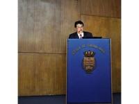 Ministro Eduardo Braga durante palestra na EGN