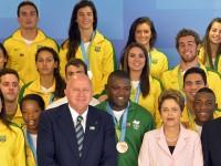 Time Brasil é recebido pela presidenta Dilma Rousseff