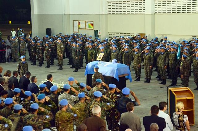 Homenagem ao Comandante da Força Militar no Haiti, General Jaborandy