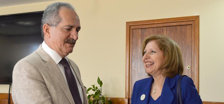 Embaixadora norte-americana, Liliana Ayalde, encontra-se com o ministro Aldo Rebelo