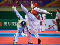 Luta de Taekwondo nos 6ºJMM (foto: Felipe Barra)
