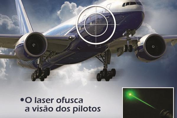 Até setembro, foram registradas mais de 600 ocorrências com laser em 2015