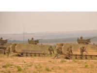 Militares durante o exercício