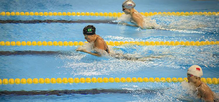 A equipe brasileira de natação conquistou sete medalhas nas primeiras provas da modalidade