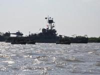 Monitor Parnaíba (U17) e lanchas Guardian 25 durante Operação Anhanduí