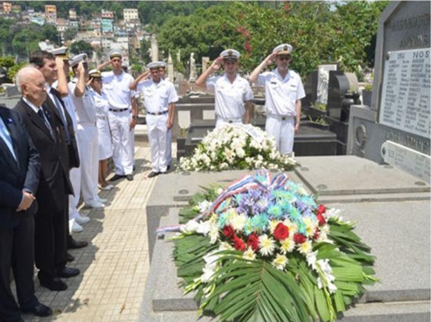 Comando do 1° Distrito Naval homenageia os heróis franceses da Primeira Guerra Mundial