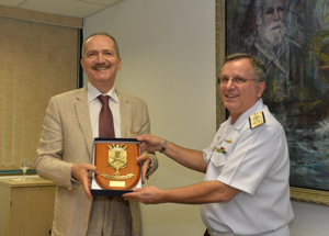 Aldo Rebelo visita Comando Naval em São Paulo