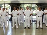 Militares durante a cerimônia na sede do Com7ºDN