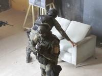 Militares das Forças Especiais durante simulado de combate urbano