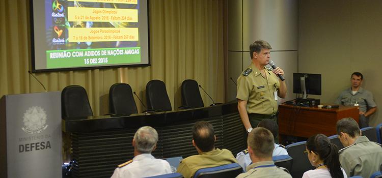 Adidos militares conhecem preparação da Defesa para os Jogos Rio 2016