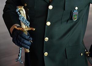 A espada de general é símbolo de compromisso e tradição