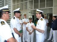 Oficiais estrangeiros em visita ao trabalho do CeIMRG