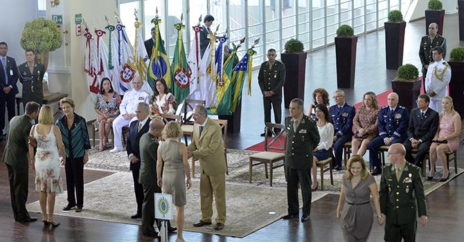 Dilma Rousseff disse ainda que a história do Brasil se confunde com a das Forças Armadas