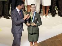 A sargento do Exército Adriana dos Santos recebeu a medalha de ouro dos Jogos Pan-Americanos de Toronto