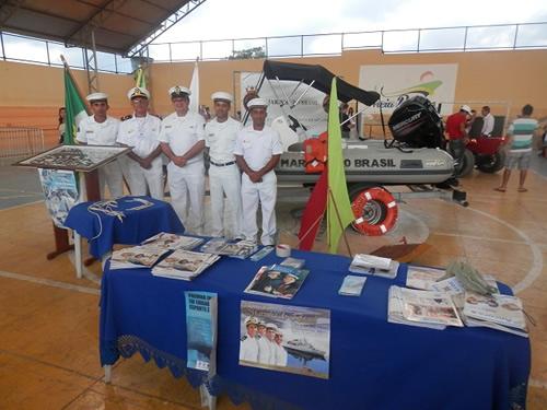 Estande da Marinha do Brasil