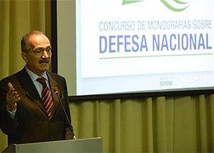 Ministro Aldo Rebelo em discurso durante a cerimônia de premiação