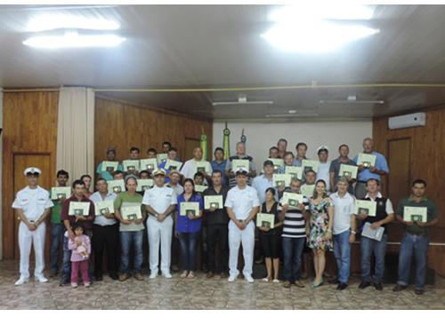 Delegacia Fluvial de Uruguaiana realiza curso de formação de aquaviários na cidade de Porto Xavier (RS)