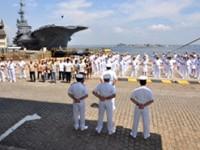 Cerimônia militar em homenagem ao 252º aniversário do AMRJ