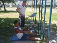 Teste sendo aplicado em atletas