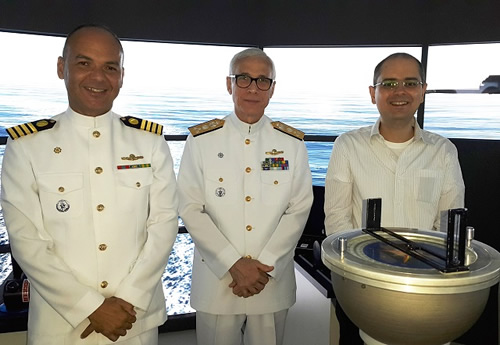 Diretor de Engenharia Naval visita o Tanque de Provas Numérico da Universidade de São Paulo