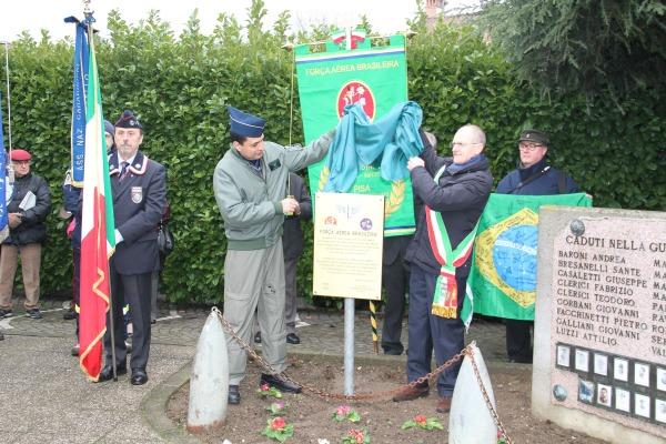 Cerimônia na Itália lembra Tenente Aurélio Vieira Sampaio