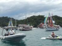 Embarcações da DelAReis em apoio à procissão marítima