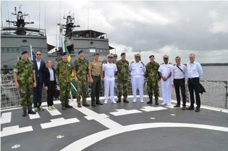 Comando do 9º Distrito Naval recebe visita da Comissão de Defesa Sueca