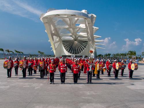 Banda Marcial do CFN celebra Dia Internacional da Mulher