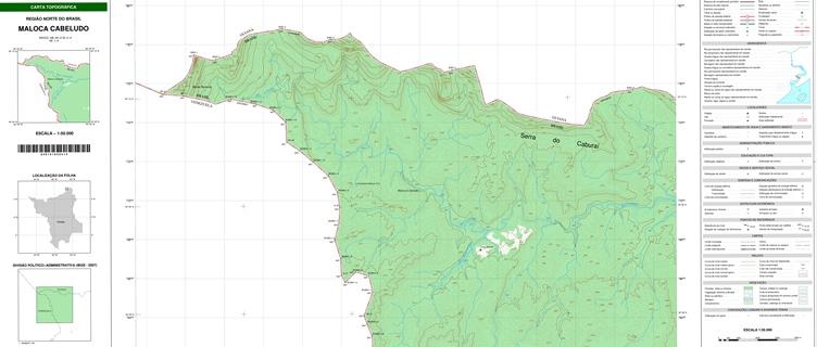 Exemplo de mapa terrestre