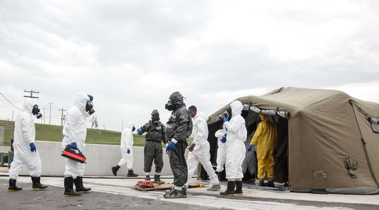 Exercício testa na prática protocolos de defesa química, radiológica e nuclear para os Jogos Olímpicos
