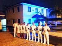 A sede da CPSE foi iluminada com a cor azul em apoio ao  Dia Mundial de Consciência sobre o Autismo