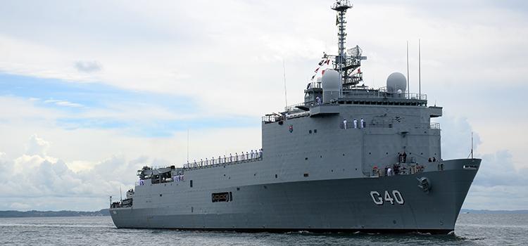 O navio foi adquirido pelo valor aproximado de 80,07 milhões de euros - Foto: Sargento Elinaldo/ Marinha do Brasil.