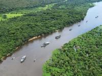 """Embarcações participantes da Operação """"Celeiro"""" regressam para a Base Fluvial de Ladário"""