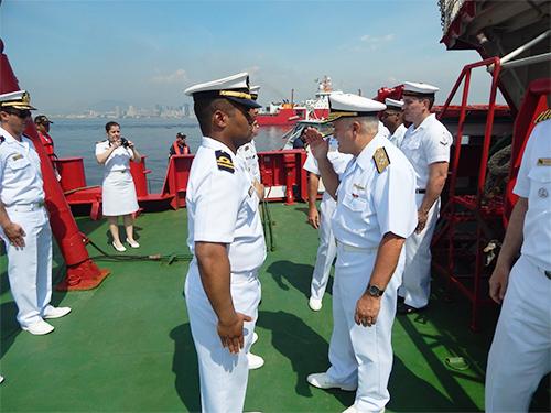 """Recepção ao Diretor-Geral de Navegação a bordo do NApOc  """"Ary Rongel"""""""