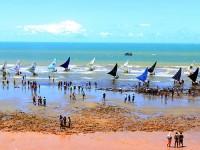 Largada das Jangadas da Praia de Retirinho Aracati-Ceará