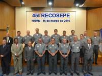 Autoridades presentes na 45ª RECOSEPE, realizada no Hospital Naval Marcílio Dias