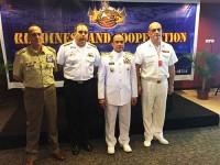 Comandante da Marinha da Indonésia prestigia palestra da FTM