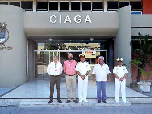 Da esquerda para a direita: Wilson Duarte Araújo, Marcus de Almeida Lima, Contra-Almirante Lourenço, Capitão de Mar e Guerra (RM1) Leite e Capitão de Mar e Guerra (FN) Costa Reis