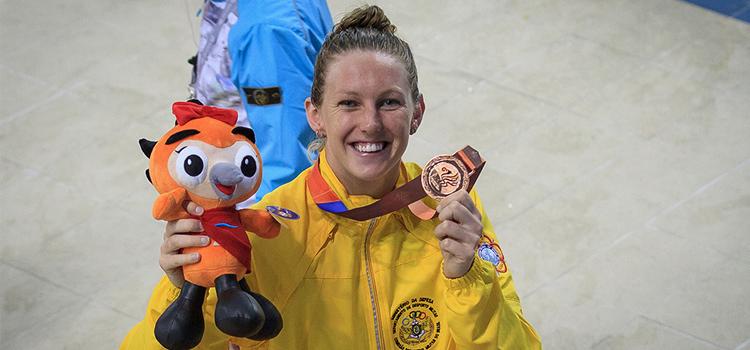 Graciele Herrmann irá representar o Exército na disputa dos 50 m livre nos Jogos Rio 2016 - Foto: Sargento Johnson Barros.