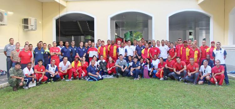 A seletiva reúne 60 militares das Forças Armadas e de mais oito corporações de bombeiros e polícias militares