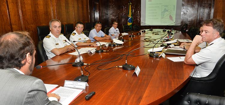 Estado-Maior da Força Marítima no Líbano se reúne na Defesa