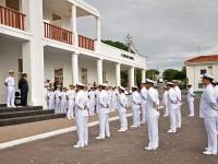 Militares na cerimônia de imposição de medalhas e na entrega de platinas e divisas