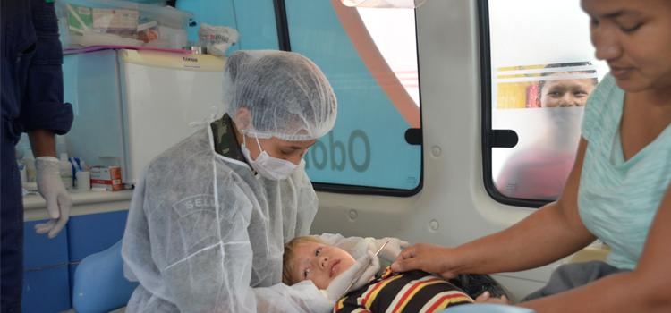 A Ágata também promove ações de cunho médico-social, intensificando a presença do Estado brasileiro nas regiões de fronteira