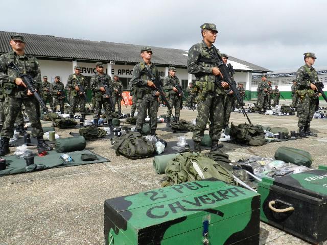 Exército Brasileiro empregado na Operação Ágata XI