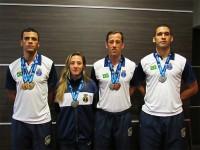 Militares da Marinha que integraram a seleção brasileira de Taekwondo