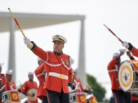 A Banda Marcial do Corpo de Fuzileiros Navais tem base histórica na Fortaleza de São José construída em 1736, na Baía da Guanabara, no Rio