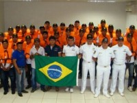 Instrutores da CFS com os novos aquaviários em Jacareacanga (PA)